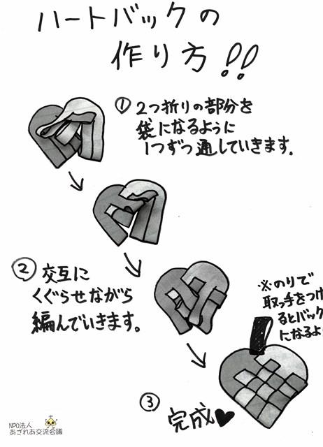 ハートバックの作り方